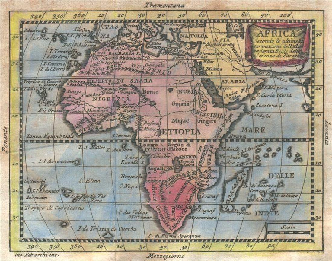 Africa Niger Flows W. Phantom St Matthew's Isl 1775 Map