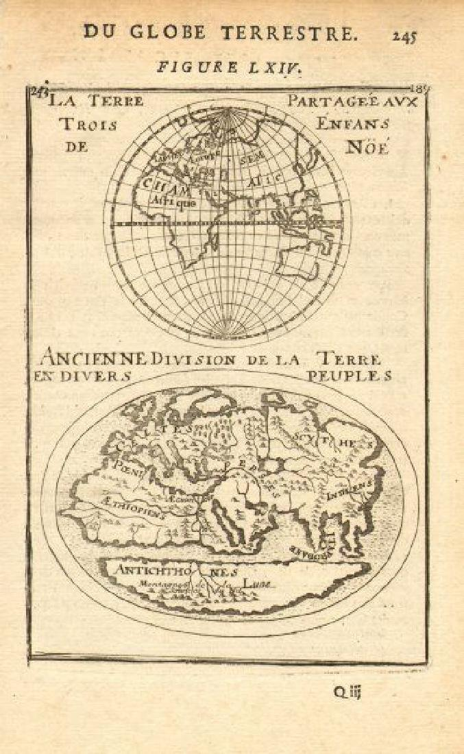Ancient World Divided Between Noah's 3 Sons 1683 Map