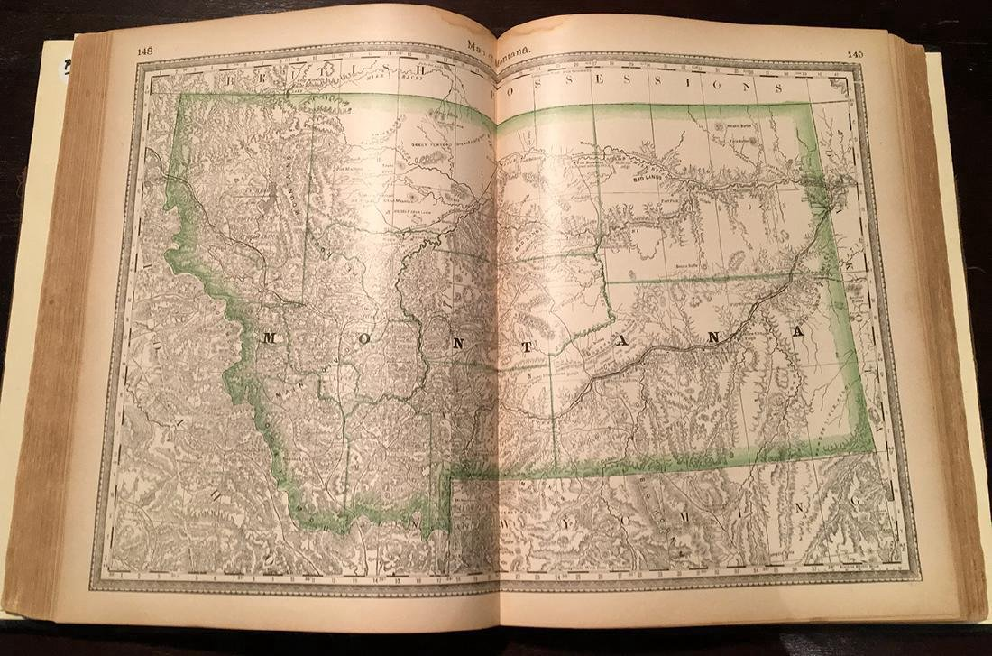 1882 Historical Hand Atlas, H. H. Hardesty Map - 6