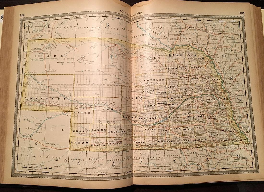 1882 Historical Hand Atlas, H. H. Hardesty Map - 7