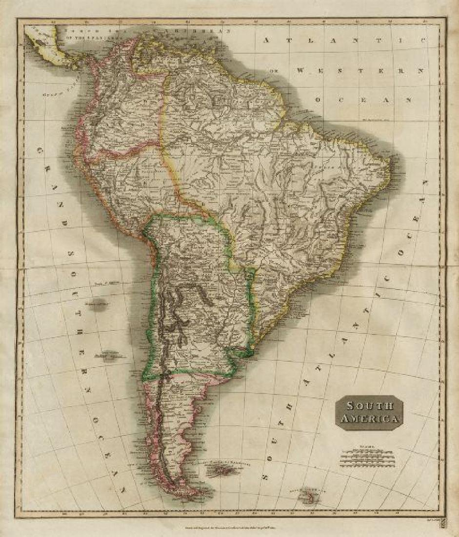 South America New Granada & Peru Viceroyalties 1817 Map