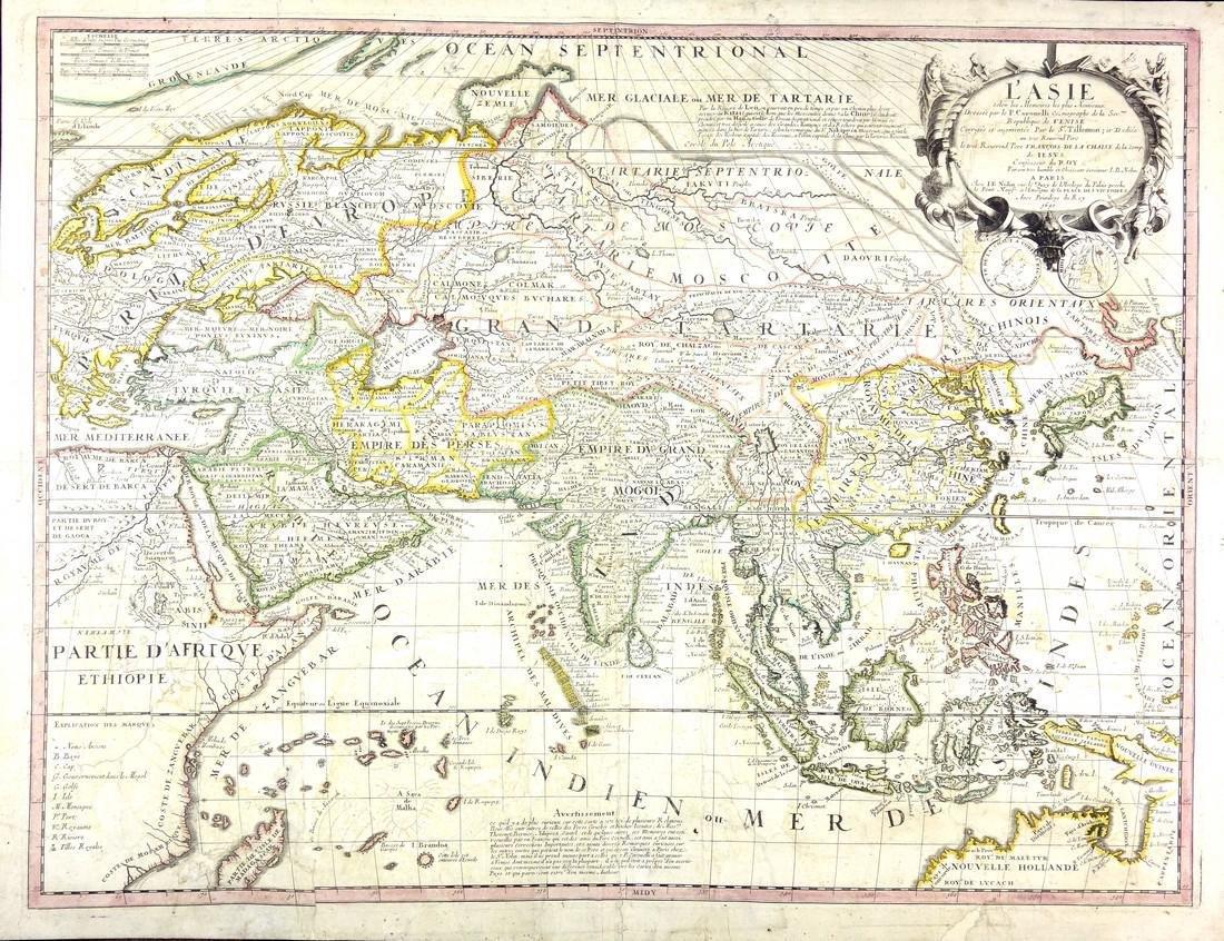 L'Asie Selon Map 1690