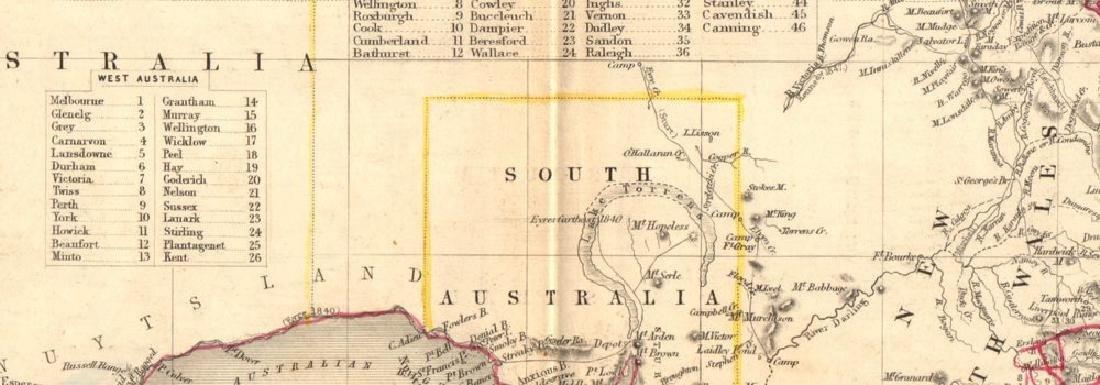Australia Sydney View Pre-Queensland 1849 Map - 2