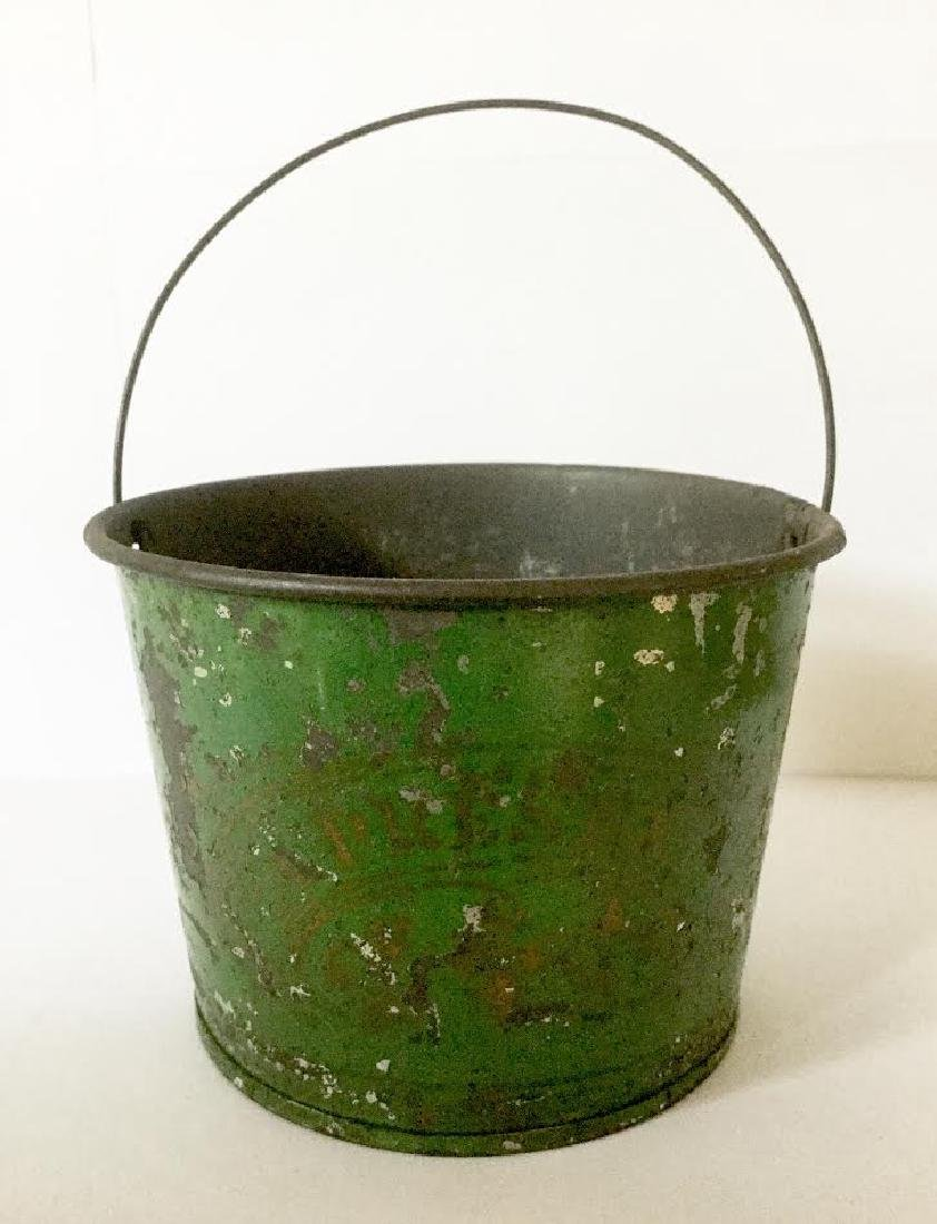 "Late 19th Century Tin Pail ""a Present"""