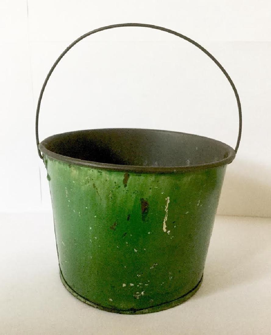 "Late 19th Century Tin Pail ""a Present"" - 2"