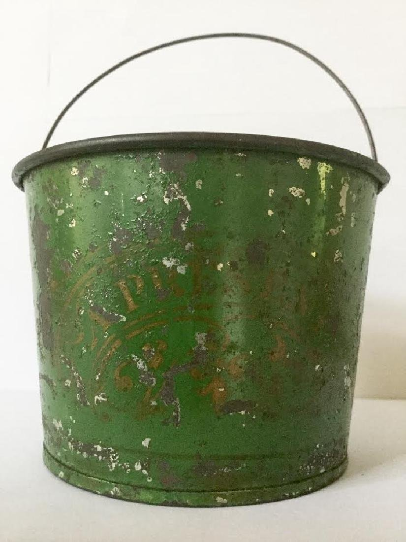 "Late 19th Century Tin Pail ""a Present"" - 3"