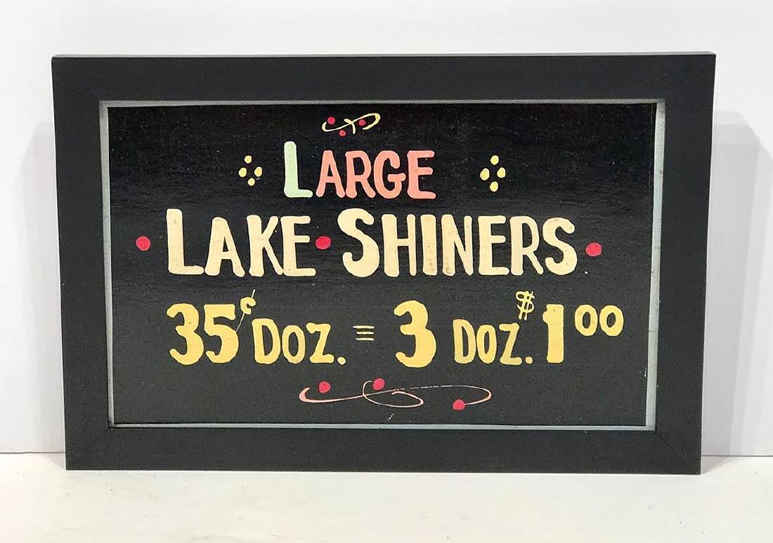 Large Lake Shiners - Minnesota Bait Sign