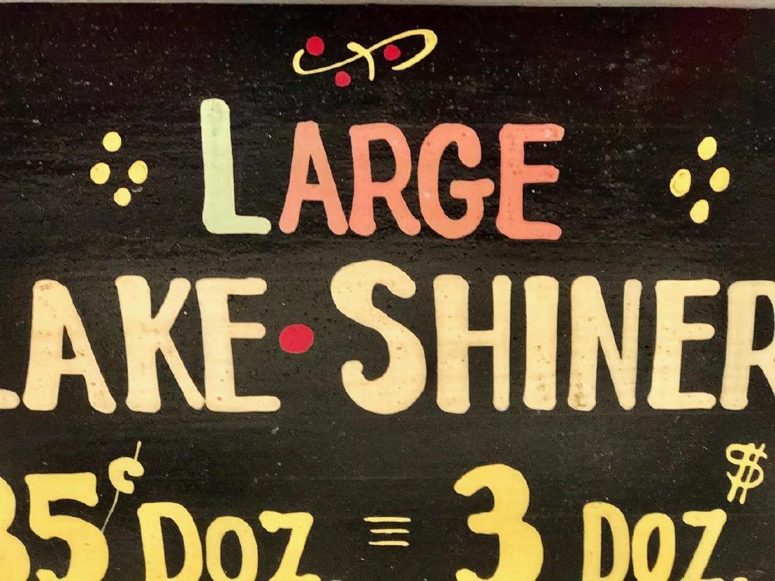 Large Lake Shiners - Minnesota Bait Sign - 2