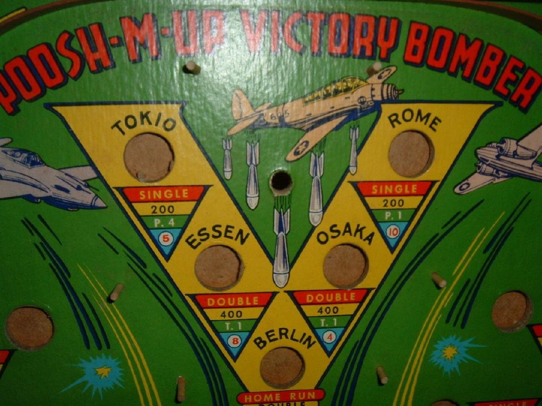 Poosh-M-Up Victory Bomber Pin ball Game - 2