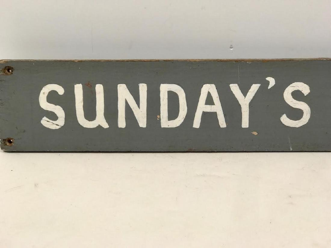 Sunday's Homemade Ice Cream Trade Sign - 2