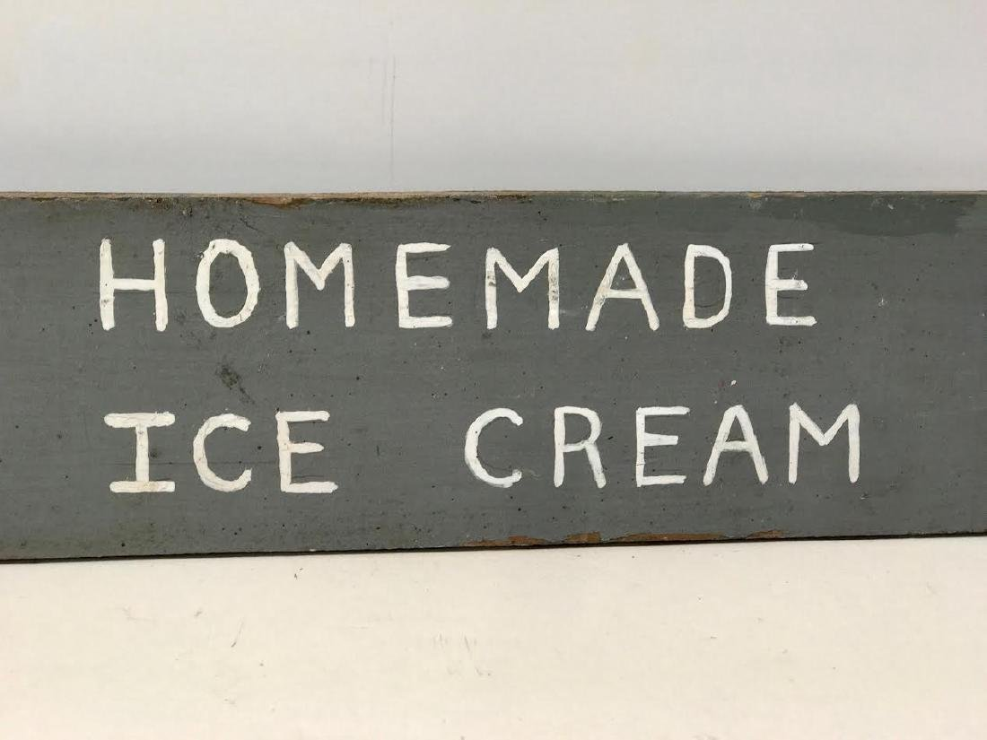 Sunday's Homemade Ice Cream Trade Sign - 3