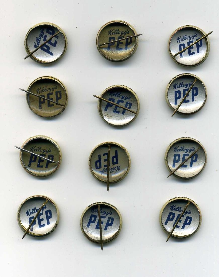 Kelloggs Pep Pinbacks - 2