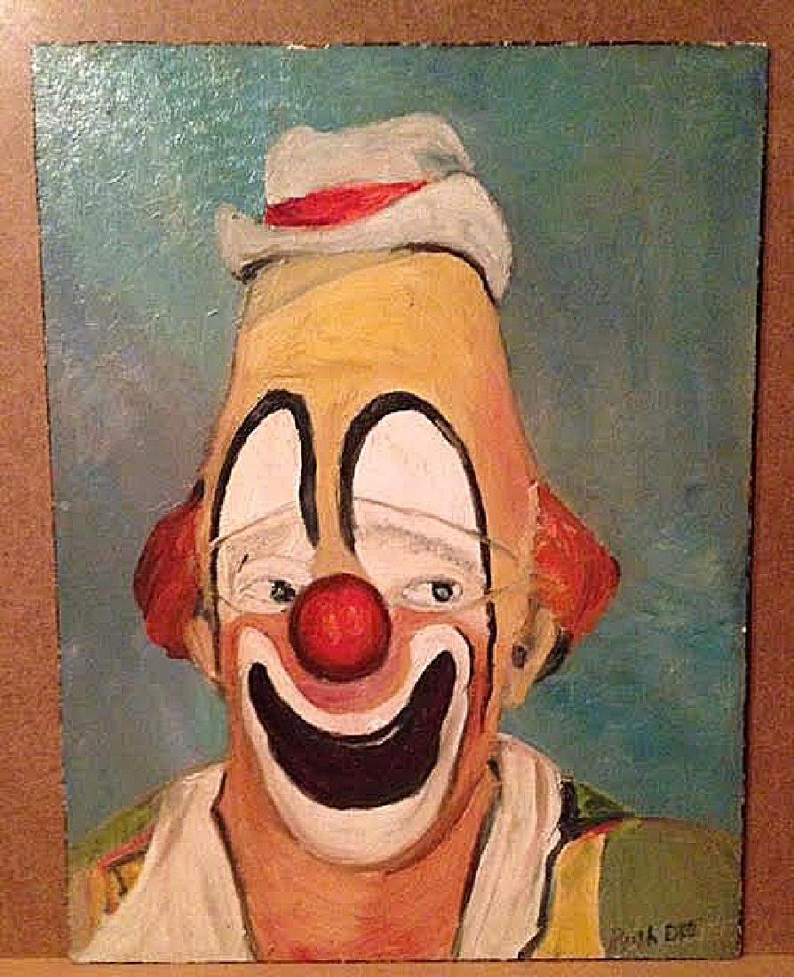 Clown Painting of Lou Jacobs by Ruth Dee