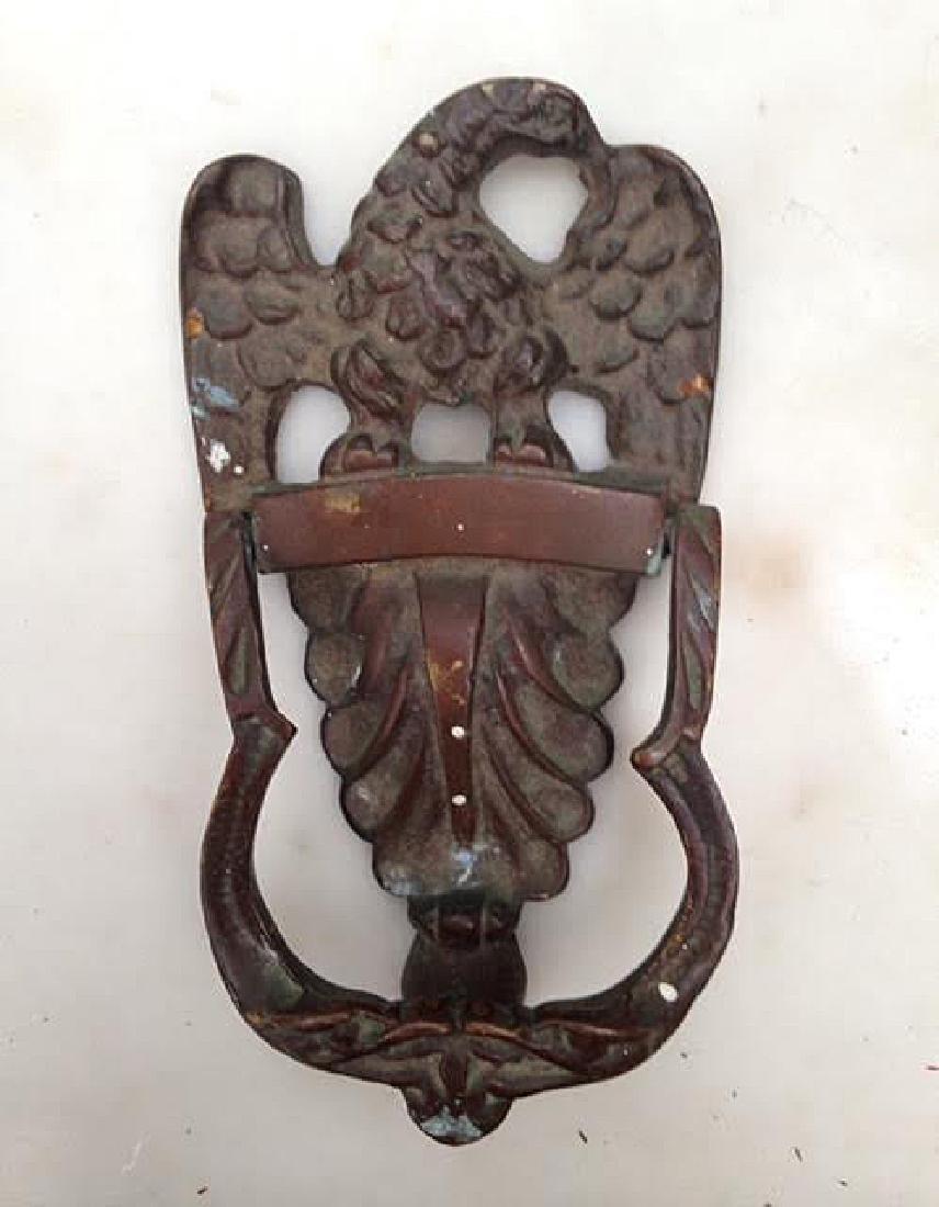Bronze Eagle Door Knocker 19th Century