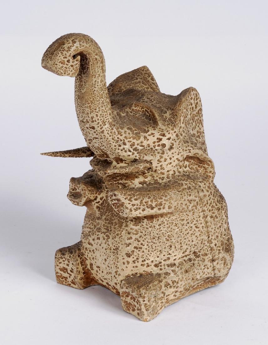 Carved Elephant Circa 1920s - 2