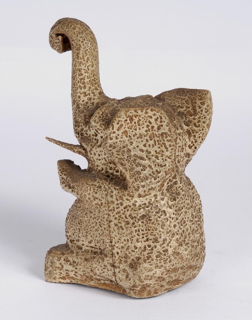 Carved Elephant Circa 1920s - 3