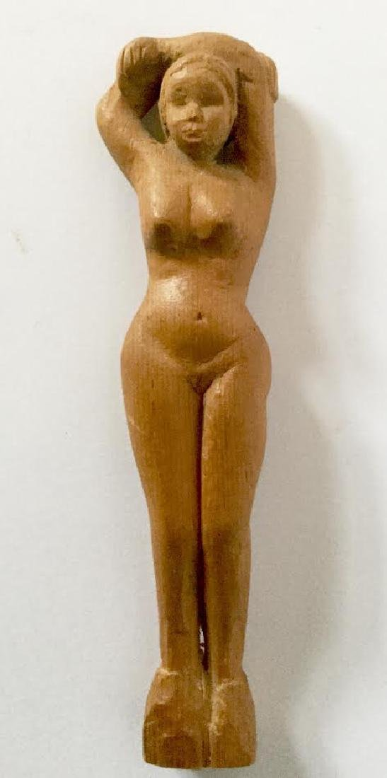 Hand Carved Posing Nude