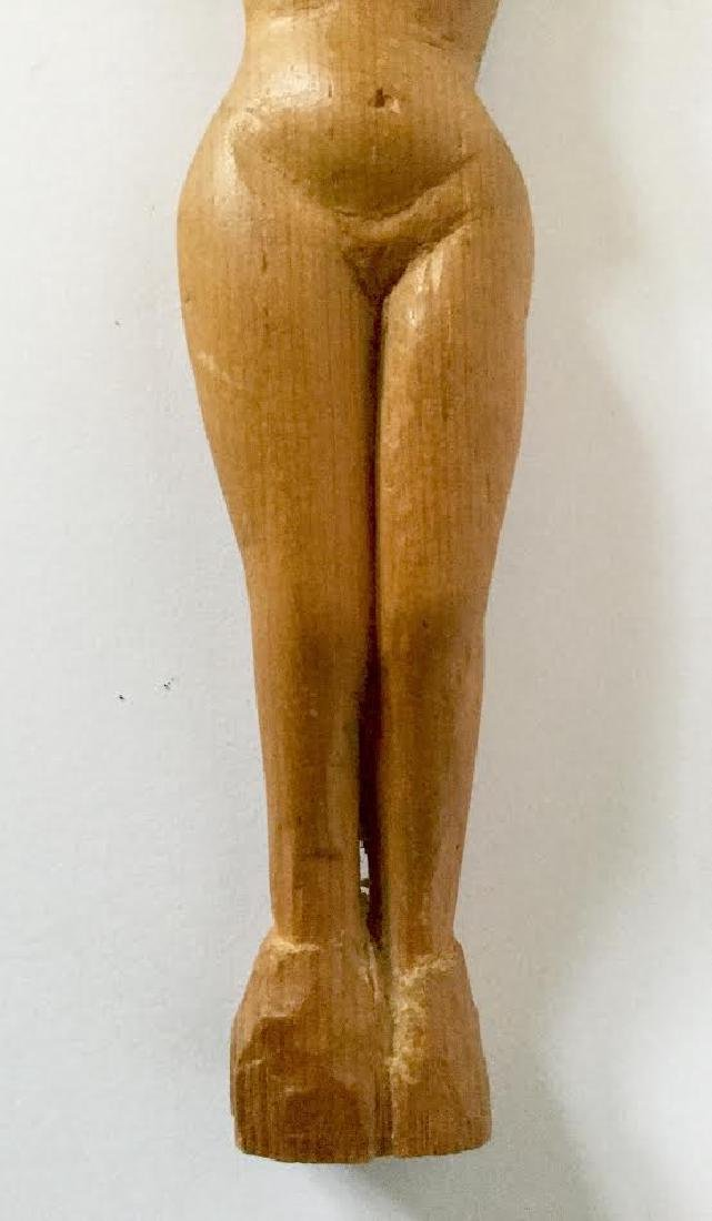Hand Carved Posing Nude - 4