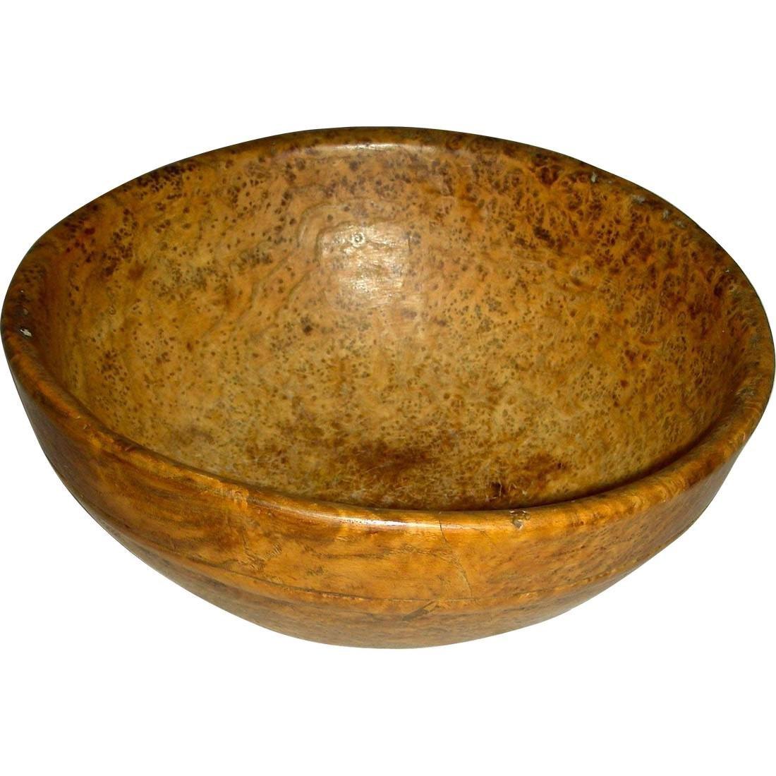 Small American Ash Burl Bowl, 19th century