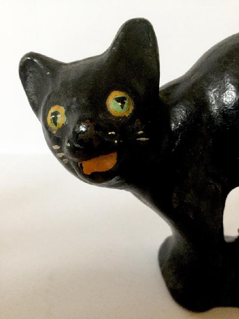Small Full Bodied Cast Iron Cat Doorstop - 2