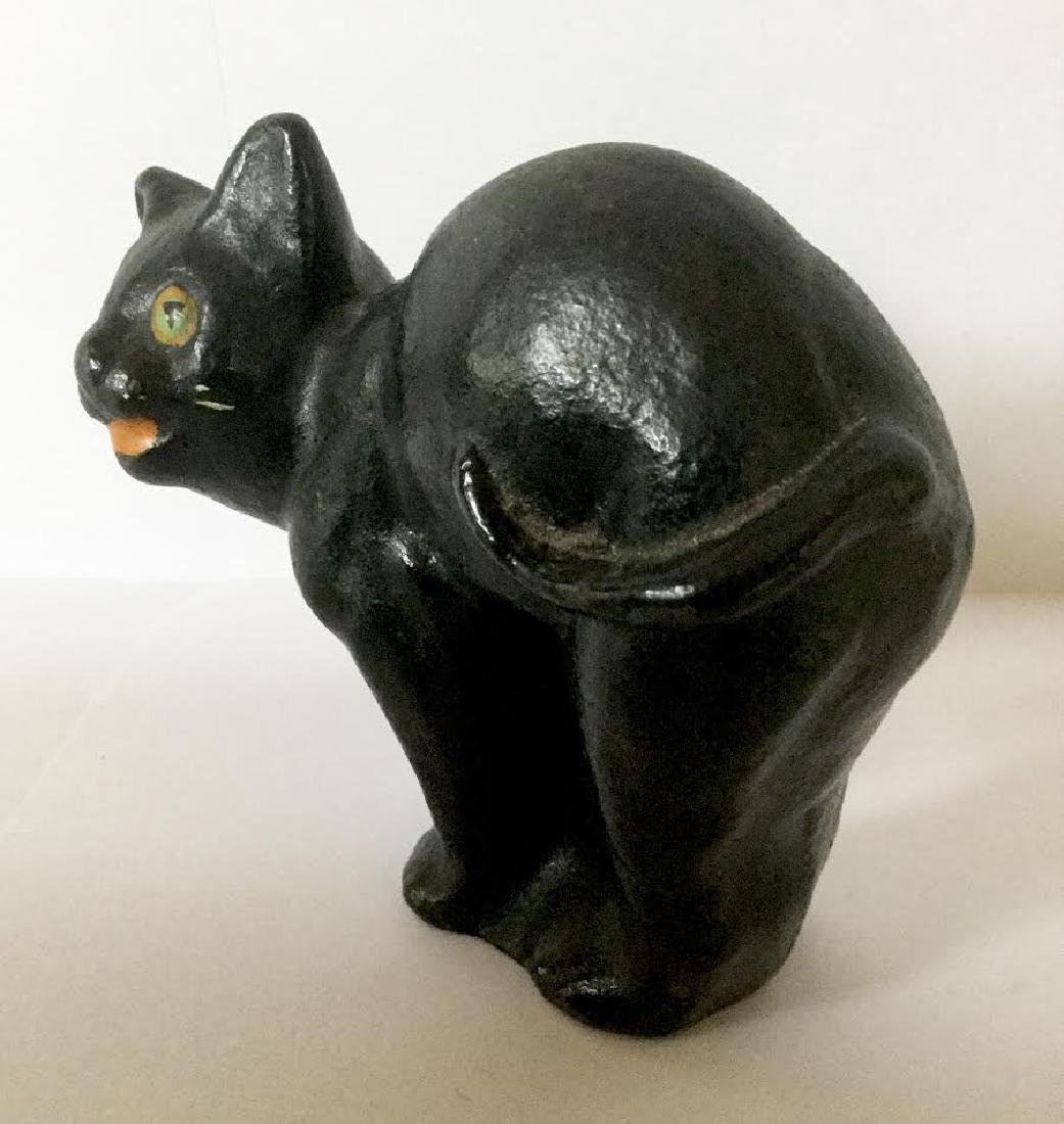 Small Full Bodied Cast Iron Cat Doorstop - 5