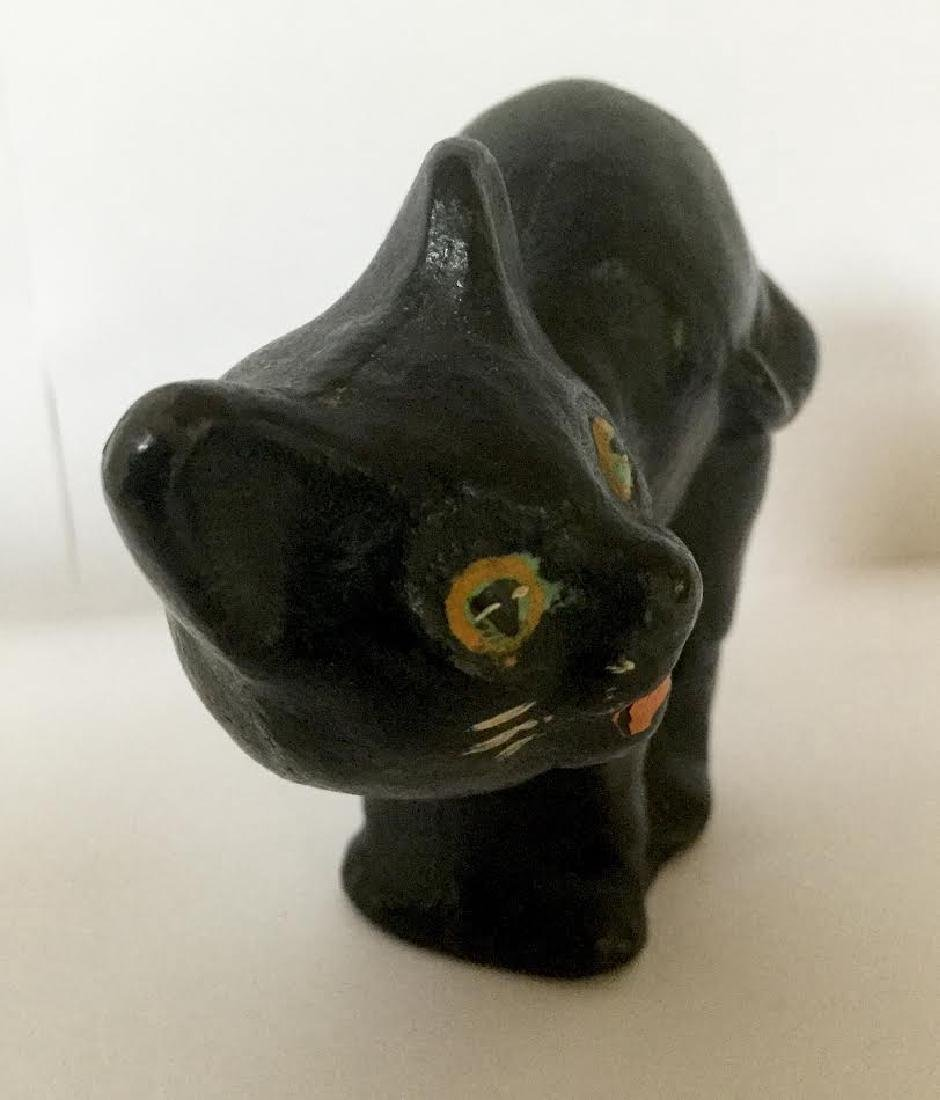 Small Full Bodied Cast Iron Cat Doorstop - 6
