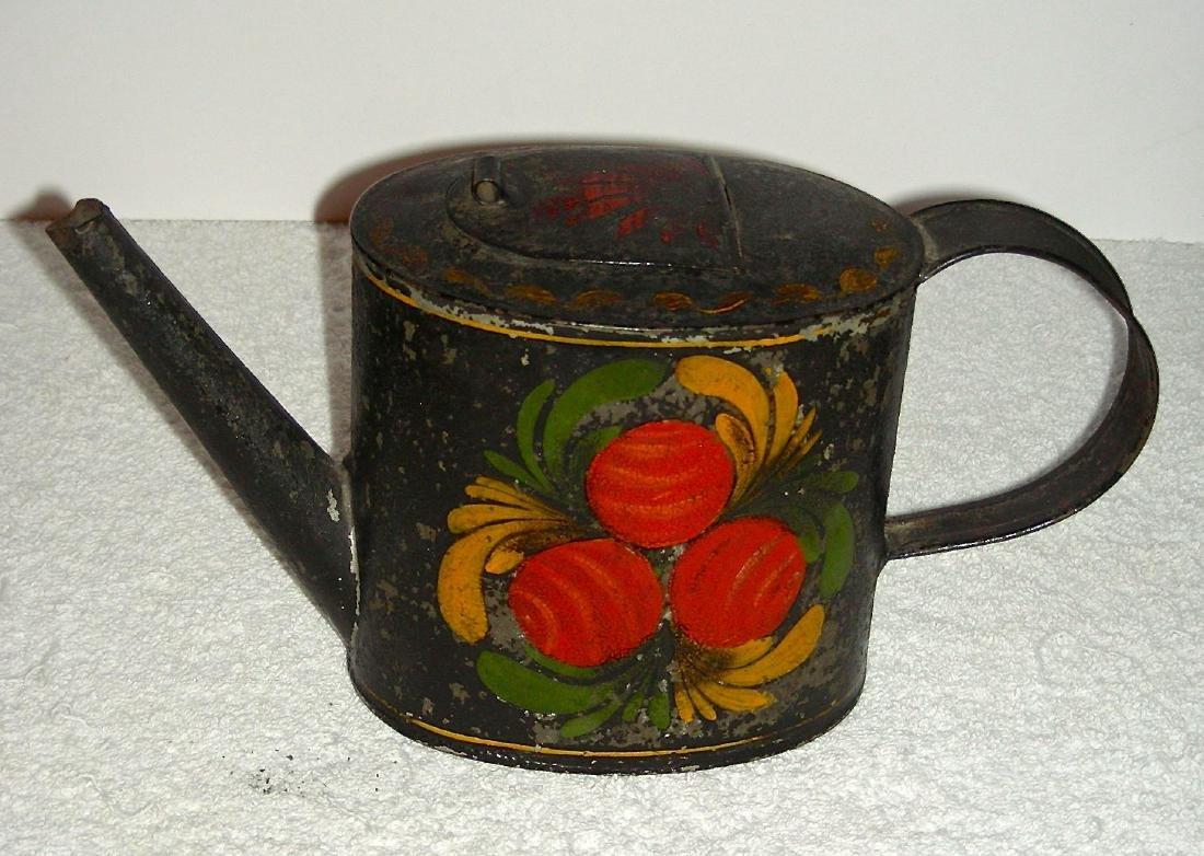 Decorated Toleware (Tin) Teapot, c. 1840-1860 - 2