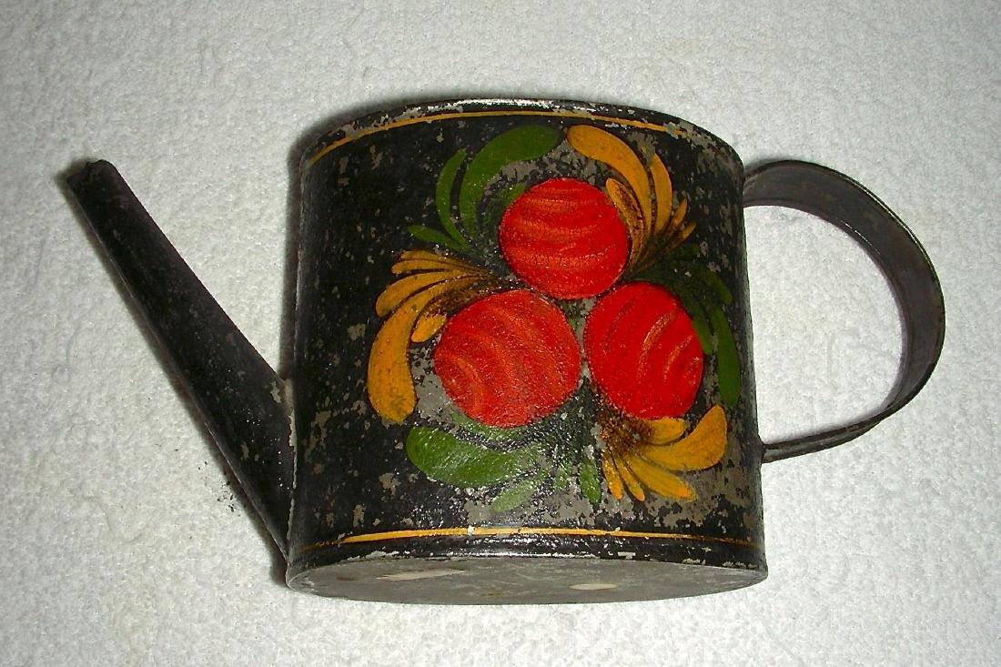 Decorated Toleware (Tin) Teapot, c. 1840-1860 - 5