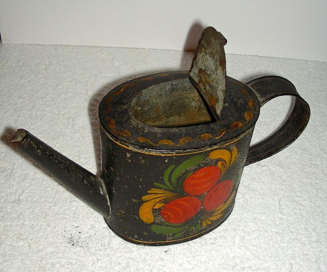 Decorated Toleware (Tin) Teapot, c. 1840-1860 - 6