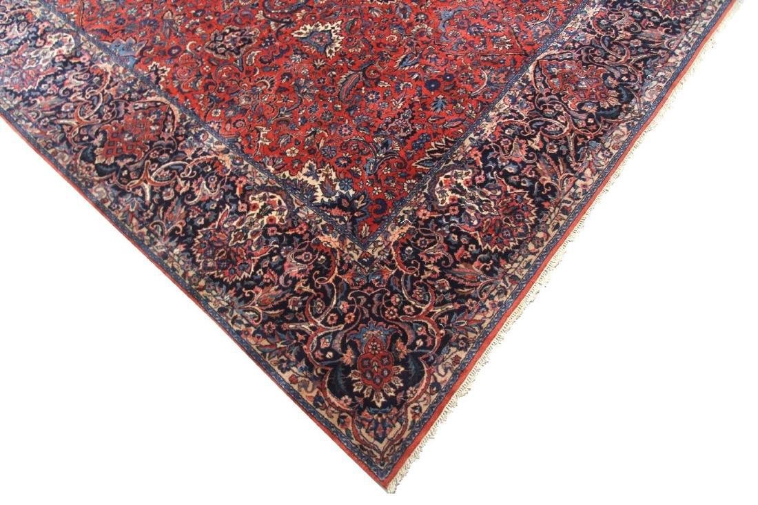 Kashan Rug Persian Hand Knotted 10x23 C1930 - 2