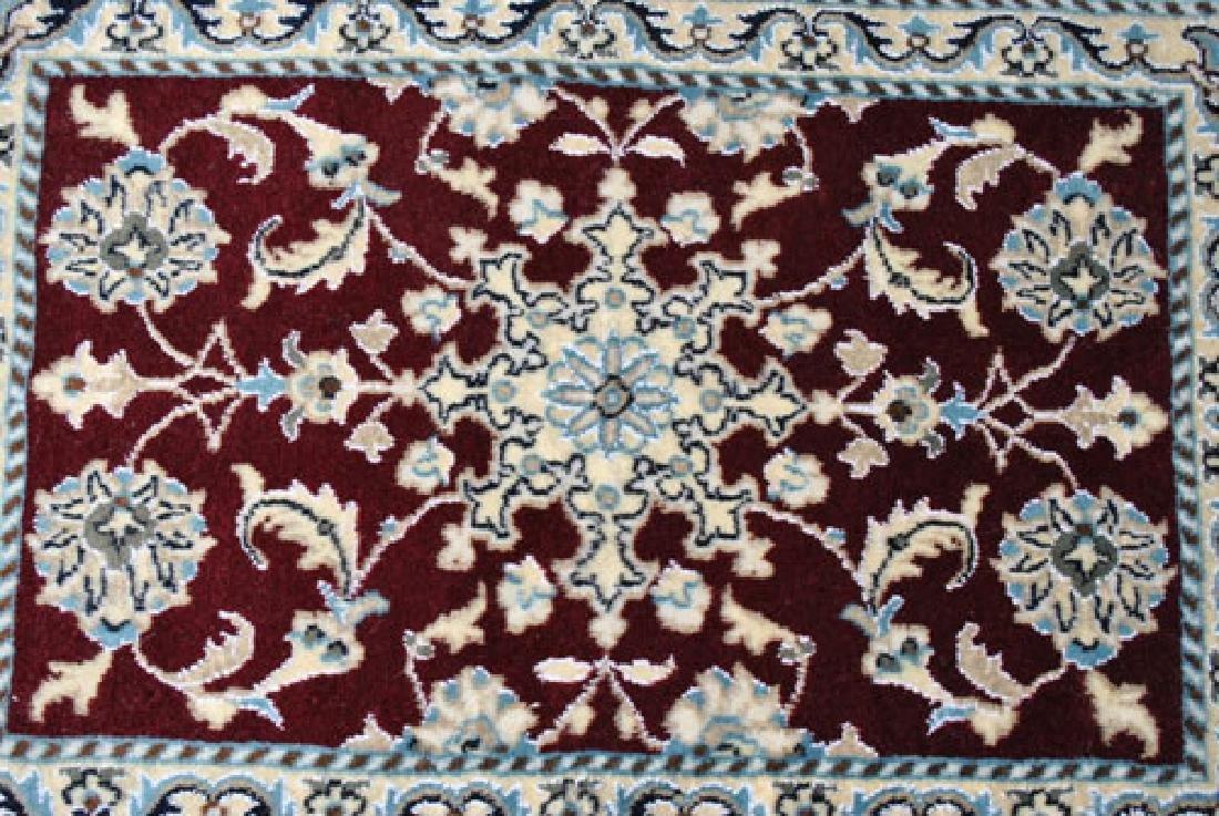 Part Silk Hand Woven Persian Nain Rug 2x3 - 2