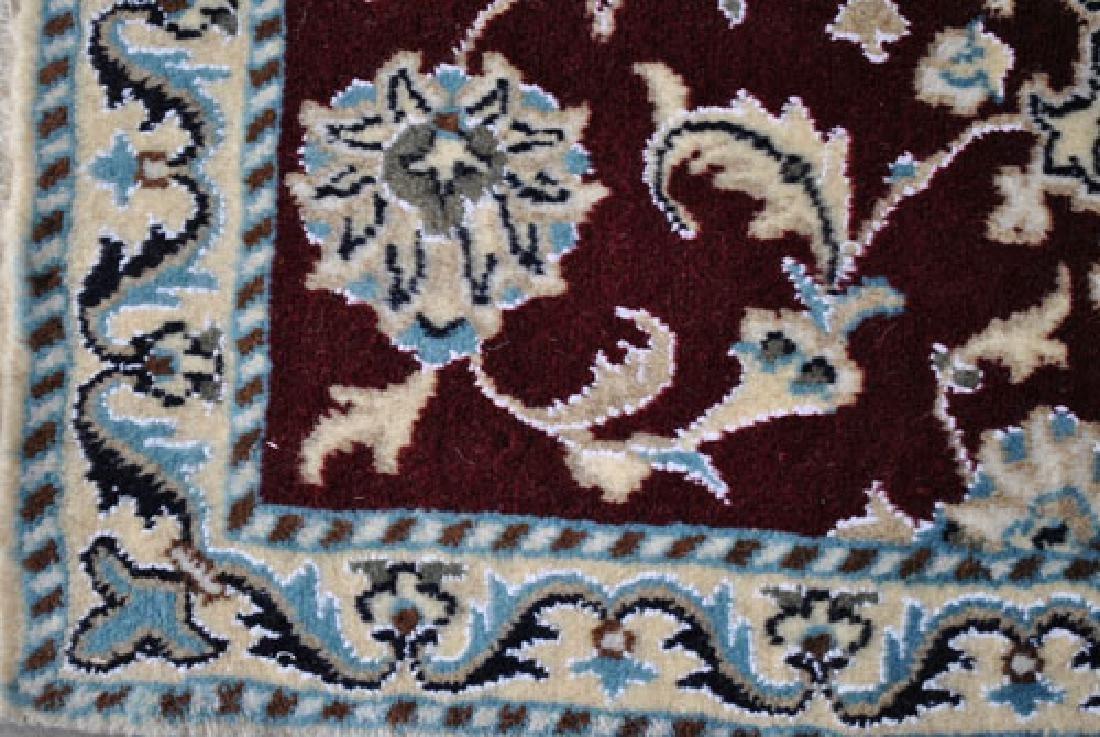 Part Silk Hand Woven Persian Nain Rug 2x3 - 3