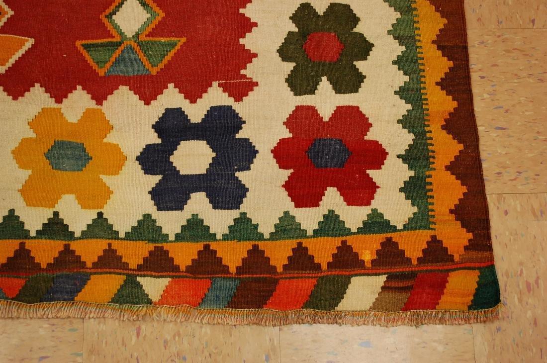 Fine Azarbijan Flat Woven Rug 4.10x7.10 - 2