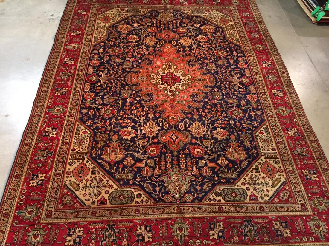 Semi Antique Persian Tabriz Wool Hand Knotted Rug 10x12