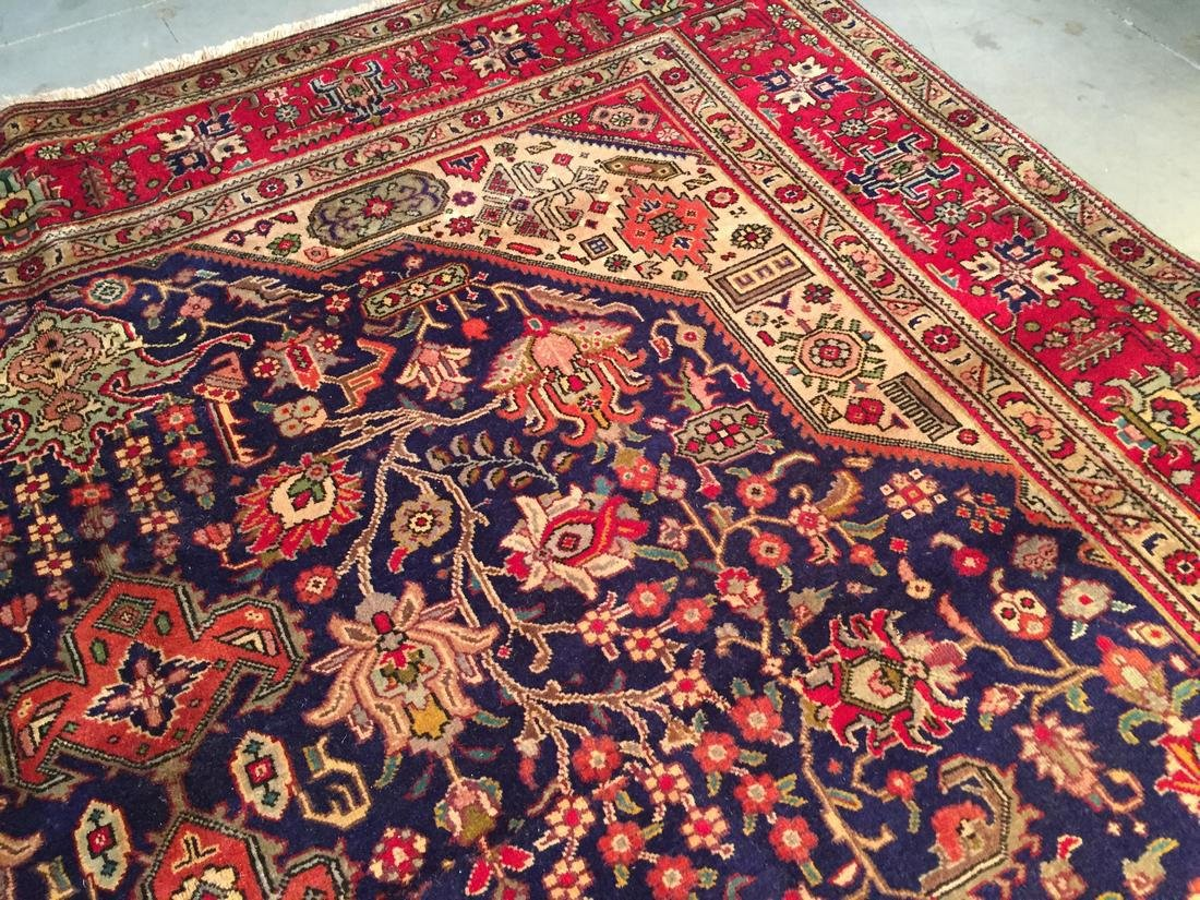 Semi Antique Persian Tabriz Wool Hand Knotted Rug 10x12 - 3