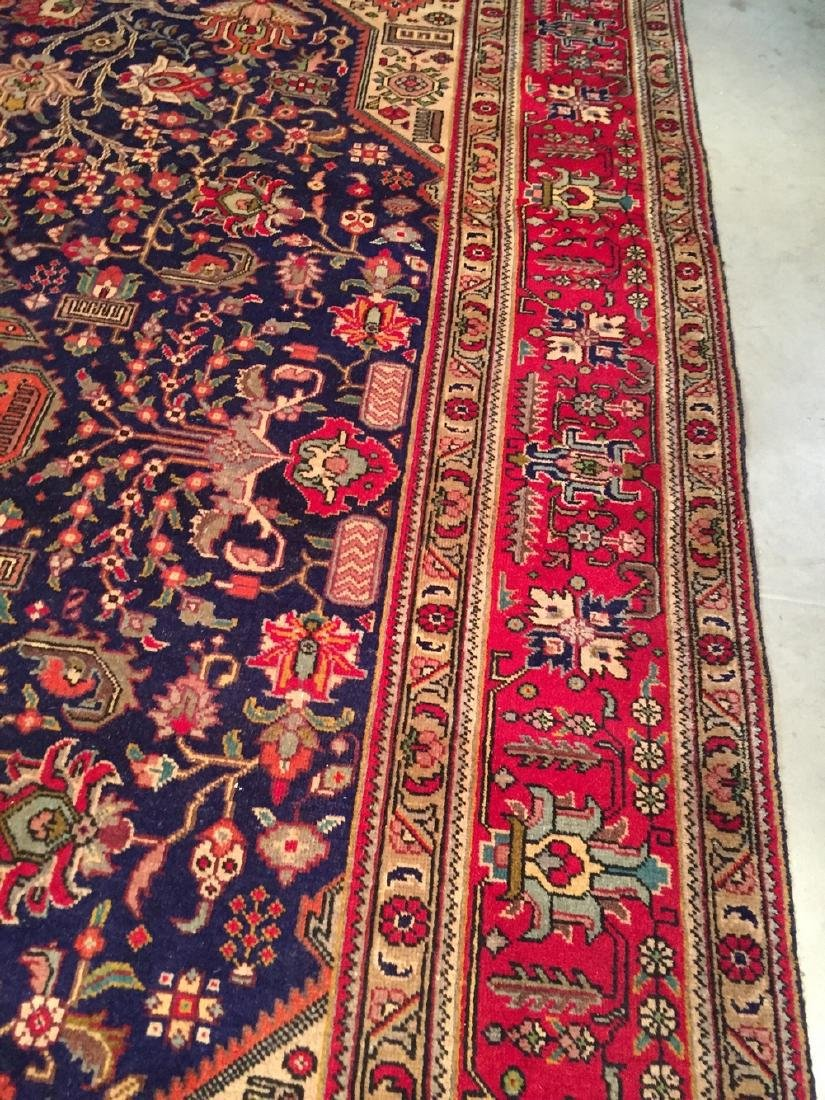 Semi Antique Persian Tabriz Wool Hand Knotted Rug 10x12 - 4