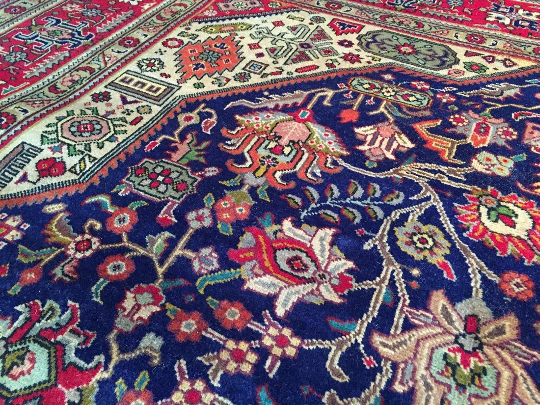 Semi Antique Persian Tabriz Wool Hand Knotted Rug 10x12 - 5