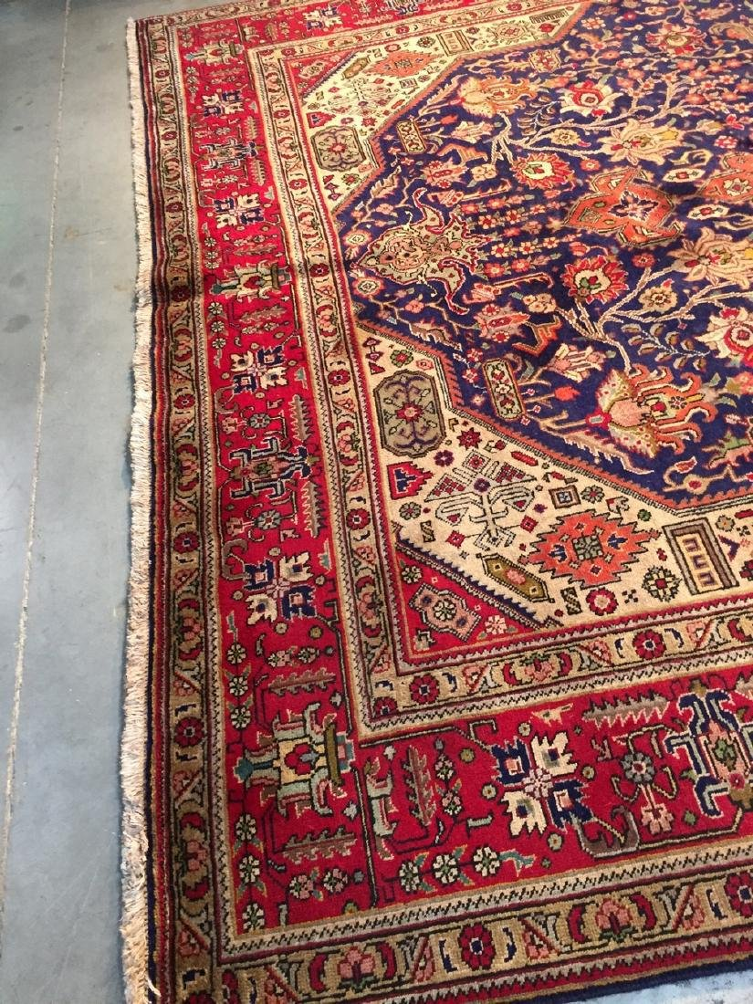 Semi Antique Persian Tabriz Wool Hand Knotted Rug 10x12 - 6