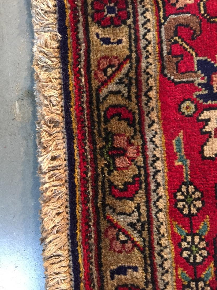 Semi Antique Persian Tabriz Wool Hand Knotted Rug 10x12 - 7