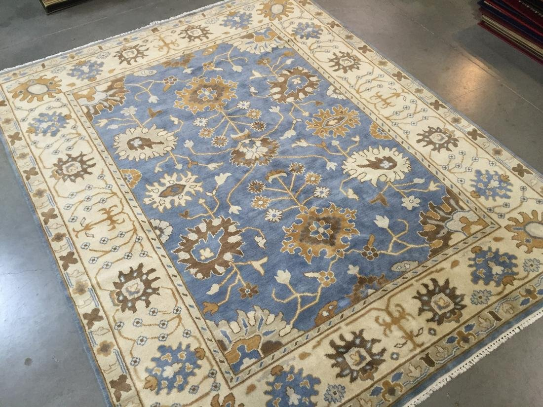 Hand Knotted Wool Oushak Rug 8x10