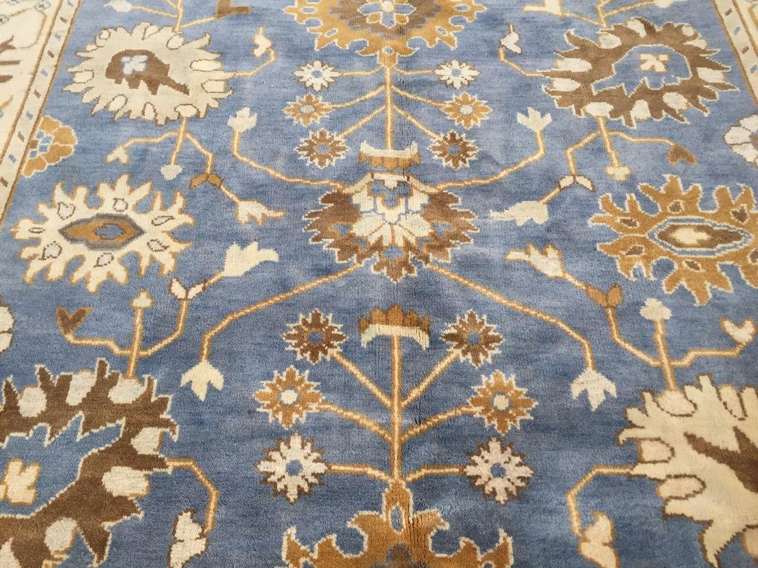 Hand Knotted Wool Oushak Rug 8x10 - 3