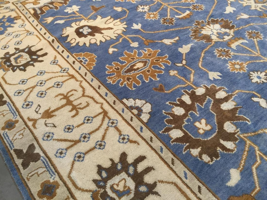 Hand Knotted Wool Oushak Rug 8x10 - 7