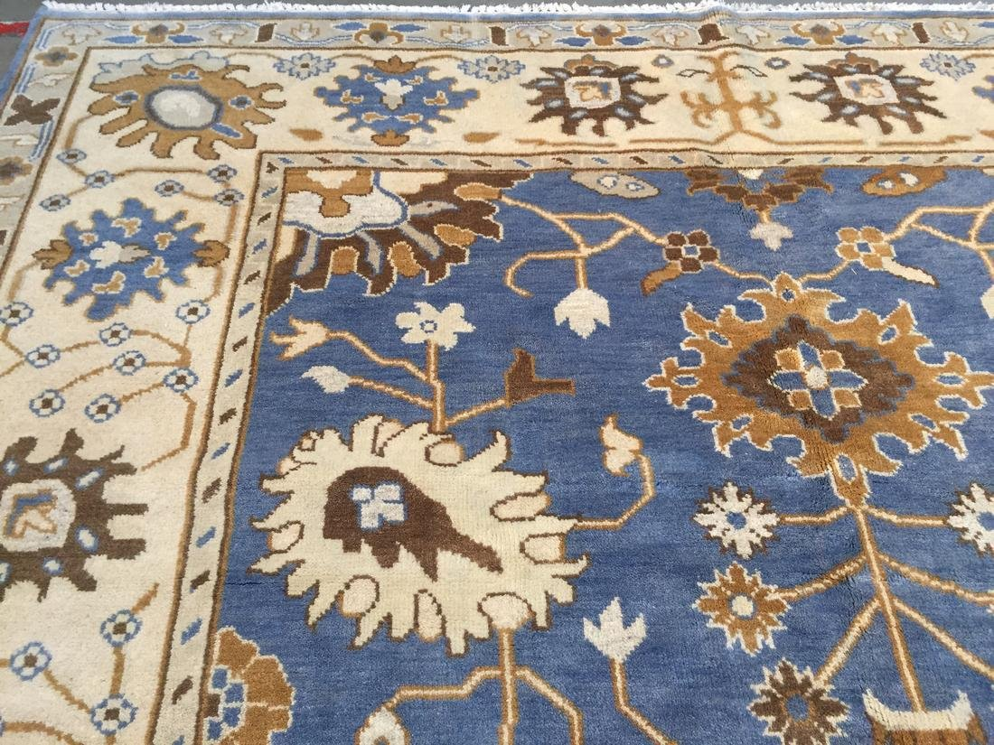 Hand Knotted Wool Oushak Rug 8x10 - 8
