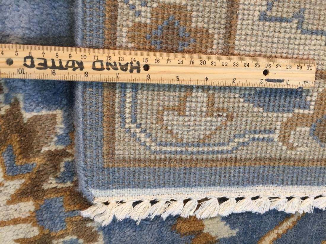 Hand Knotted Wool Oushak Rug 8x10 - 9
