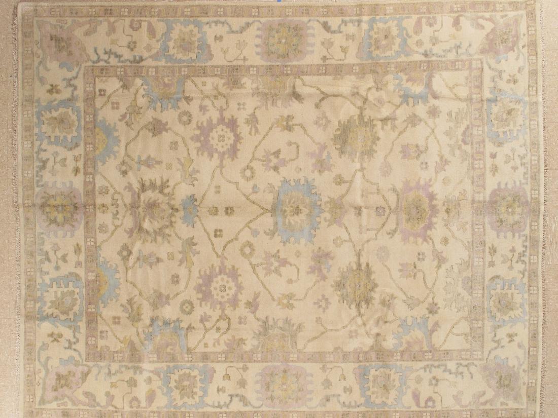 Handmade Wool Oushak Rug 9x12