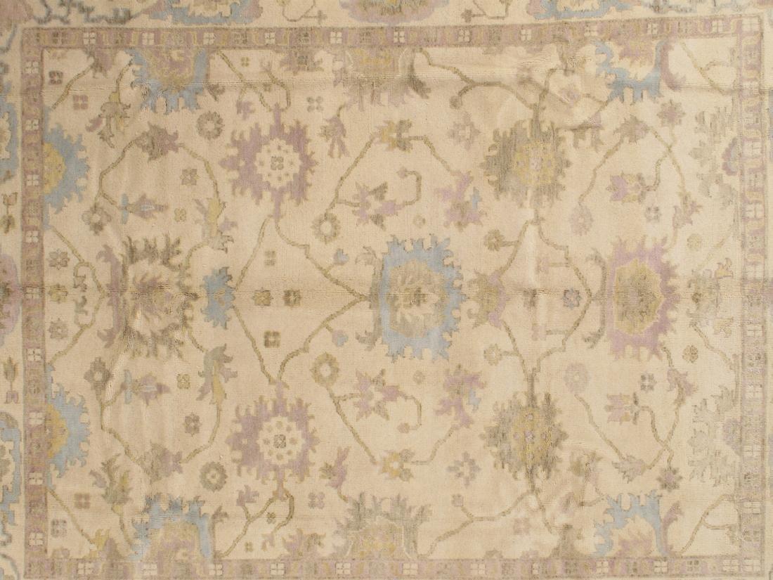 Handmade Wool Oushak Rug 9x12 - 2