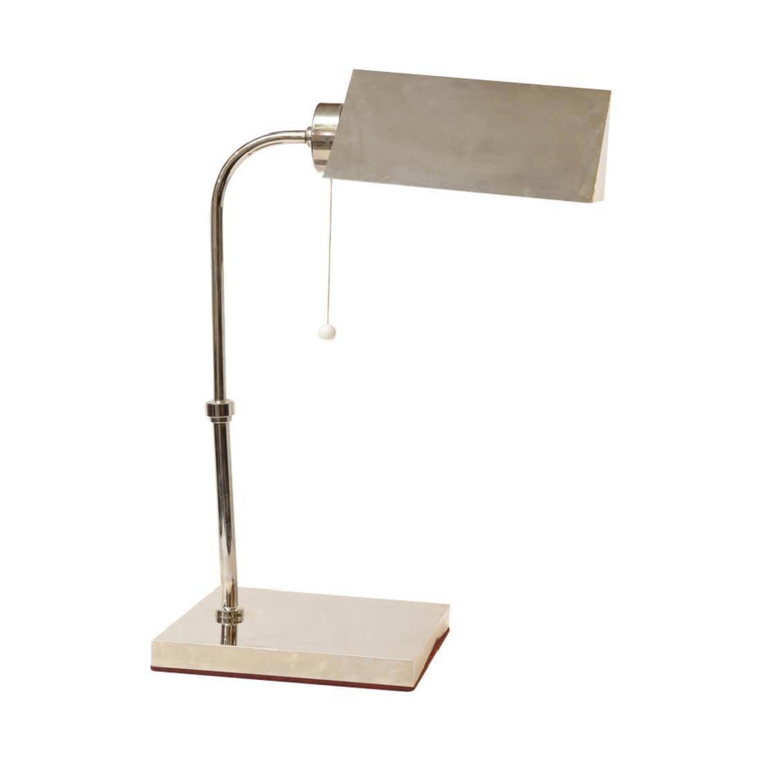 Art Deco Chrome French Lamp