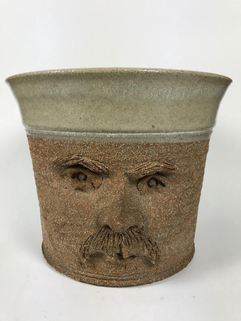 Brown Ceramics Planter with Face