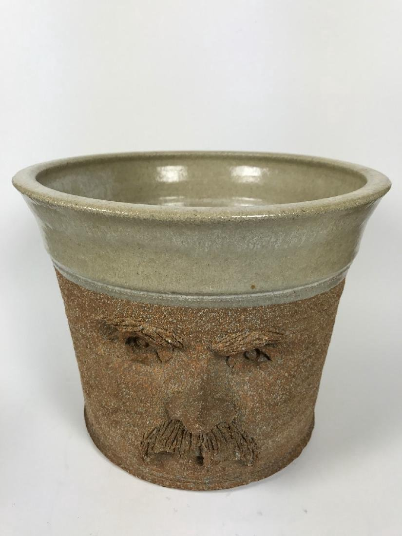 Brown Ceramics Planter with Face - 2