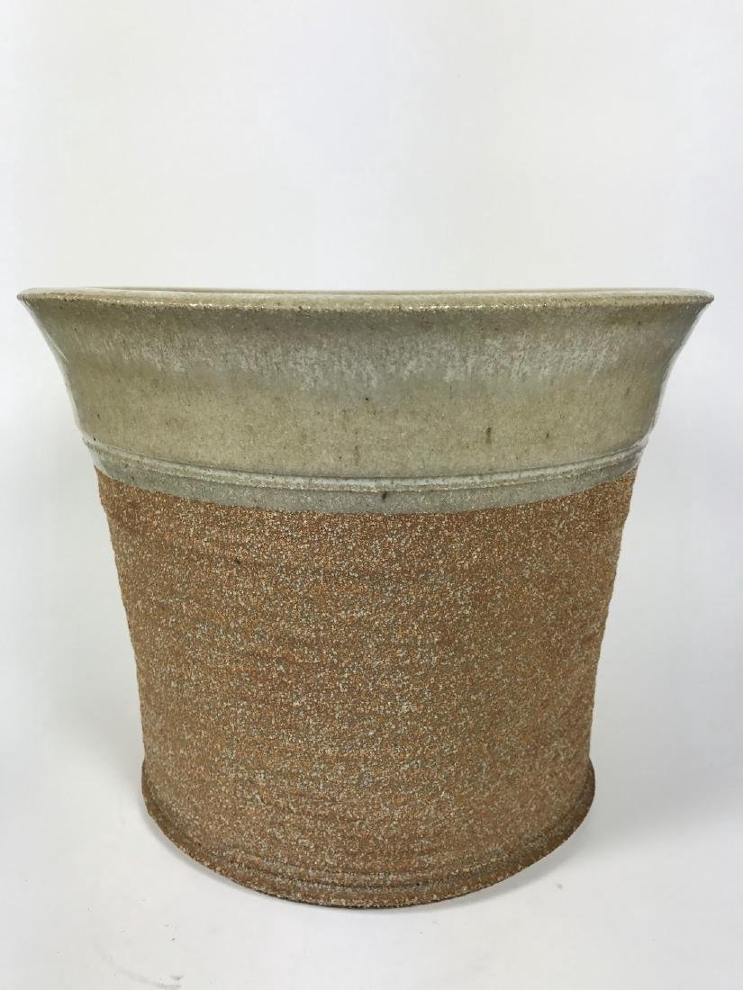 Brown Ceramics Planter with Face - 3